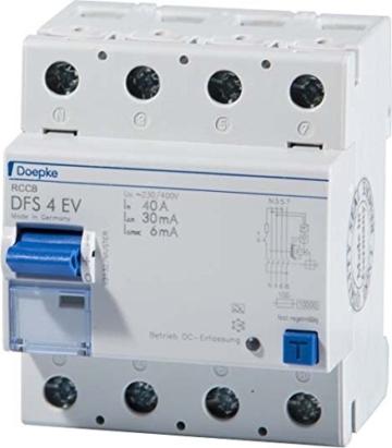 Doepke FI-Schalter DFS4 040-4/0,03 Typ A EV 4P 40A 30mA -