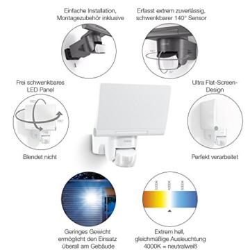 Steinel LED-Strahler XLED Home 2 graphit, Flutlicht, schwenkbar, 14.8 W, 140° Bewegungsmelder, 14m Reichweite, 1184 lm - 5