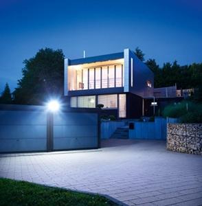 Steinel LED Strahler XLED Home 3 weiß, NEU: 4000 K, 20W, LED-Flutlicht, 140° Bewegungsmelder, 14 m Reichweite, 1426 lm - 4