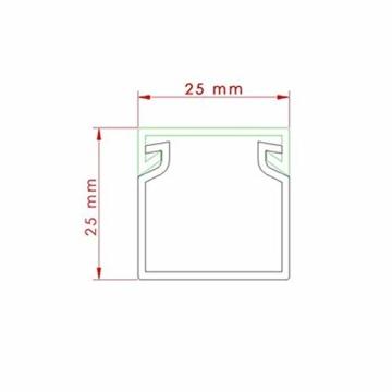 Kabelkanal schraubbar 25 x 25 mm PVC 12m Wand und Decken Montage -