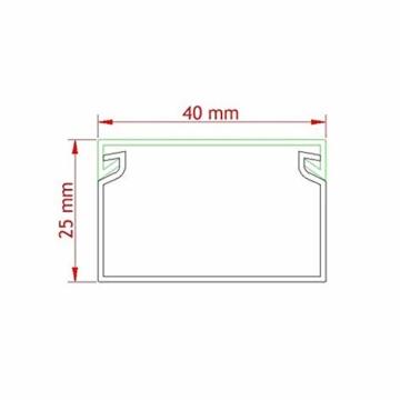 Kabelkanal schraubbar 40 x 25 mm PVC 8m Wand und Decken Montage -