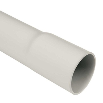 Leerrohr M32 Elektrokabel-Rohr 20m 32mm gemufft hellgrau PVC -