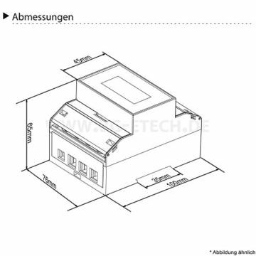 Energiezähler – LCD digitaler Drehstromzähler – MID geeicht -